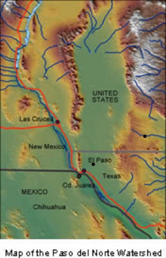 Map Of The Paso Del Norte Watershed Area